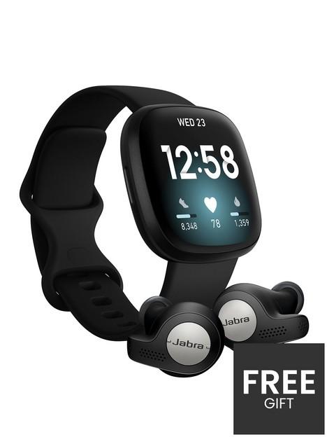 fitbit-span-styleversa-3-smartwatch-spanspan-stylespan-styleblackblack-with-jabra-elite-65t-active-earphones-spanspan-styletitanium-blackspanspan