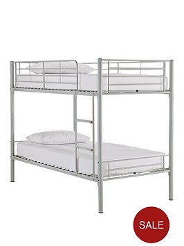 kidspace-domino-metal-bunk-bed-frame-with-mattress-options