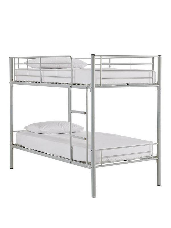 Kidspace Domino Metal Bunk Bed Frame With Mattress Options Littlewoodsireland Ie