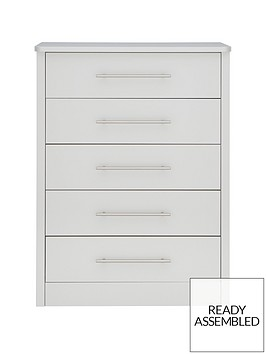 consort liberty ready assembled chest of 5 drawers
