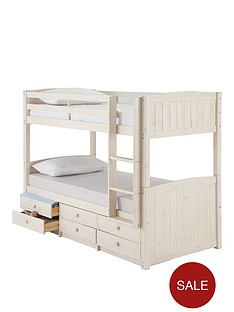 kidspace-georgie-solid-pine-bunk-bed-frame-with-storage