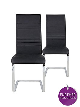 pair-of-jet-faux-leather-cantilever-chairs