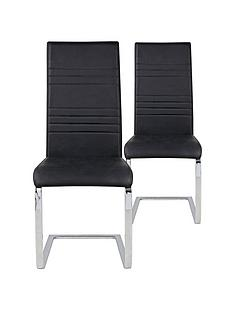 pair-of-jet-faux-leather-cantilever-dining-chairs-black