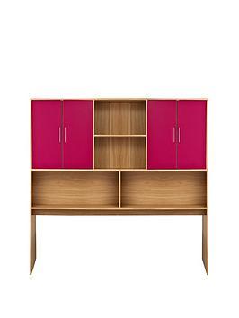 kidspace-ohio-overbed-storage-unit-black-pink