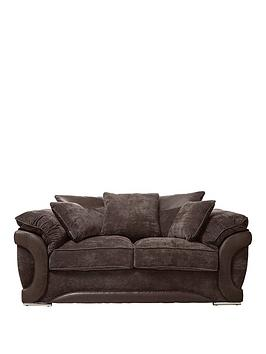 mazenbspfabric-and-faux-leather-2-seater-scatter-back-sofa